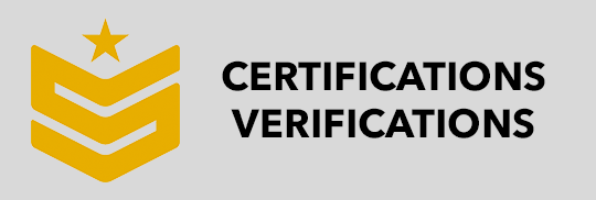 Certifications/Verifications
